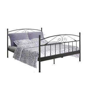 Černá dvoulůžková postel Støraa Bibi, 180x200cm