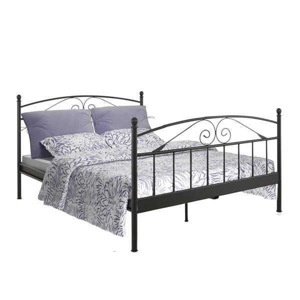 Čierna dvojložková posteľ Støraa Bibi, 180×200cm