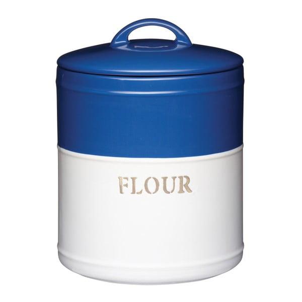 Modrobílá dóza Flour