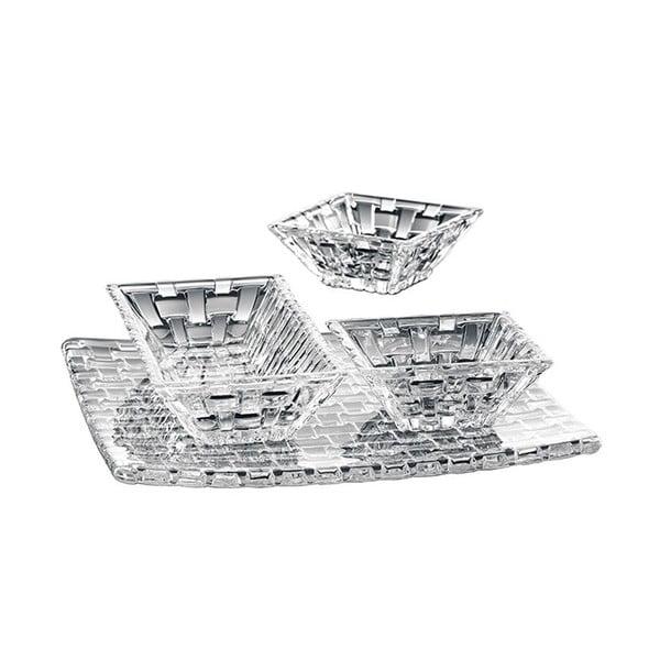 Bossa Nova 3 db kristályüveg tál és 1 db kristályüveg tálca - Nachtmann