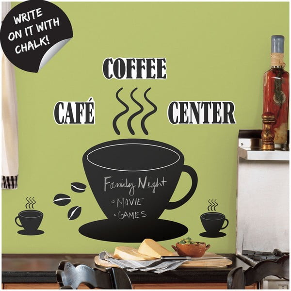 Coffee cup chalkboard