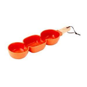 Bol triplu din porțelan pentru servit Ladelle Classic, portocaliu