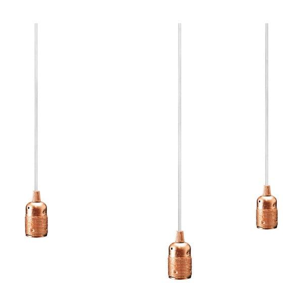 Trojice bíloměděných závěsných kabelů Bulb Attack Uno