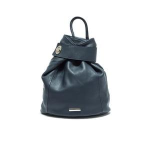 Tmavě tyrkysový dámský kožený batoh AnnaLuchini Luciana