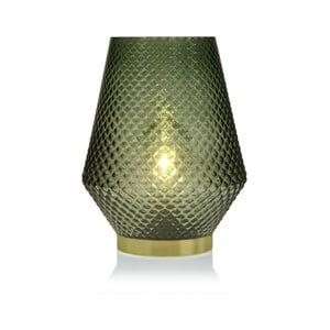 Zelená skleněná olejová LED lampa Versa Relax, ⌀ 21 cm