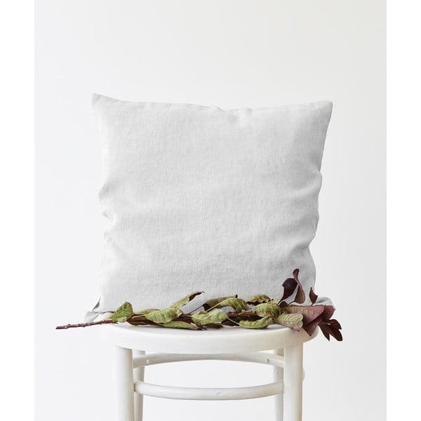 Față de pernă din in Linen Tales, 45 x 45 cm, alb