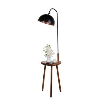 Lampadar cu măsuță auxiliară Opviq lights, negru