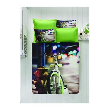 Imagine indisponibila pentru Lenjerie de pat cu cearșaf din bumbac satinat, 200 x 220 cm
