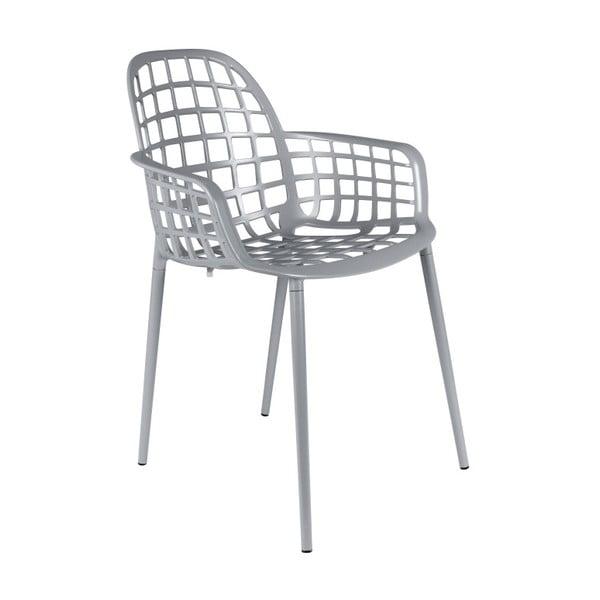 Set 2 scaune Zuiver Albert Kuip Garden, gri deschis