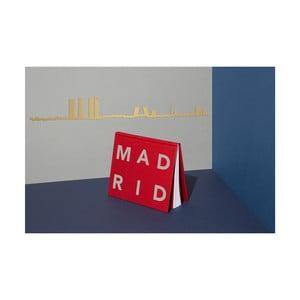 Pozlacená nástěnná dekorace se siluetou města The Line Madrid