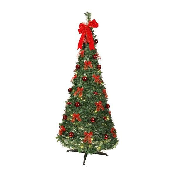 Svítící stromek Red Christmas, 190 cm