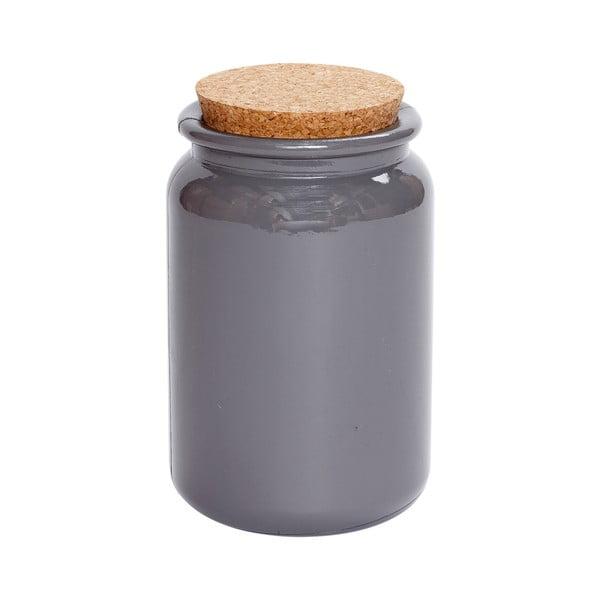 Set dóz z recyklovaného skla, malý, šedý