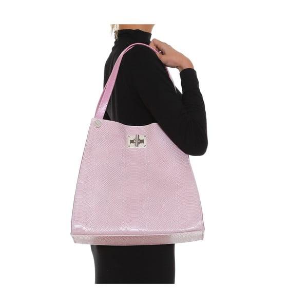 Kožená kabelka Anna Luchini 8038 Rosa