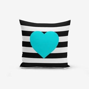 Povlak na polštář s příměsí bavlny Minimalist Cushion Covers Striped Blue,45x45cm