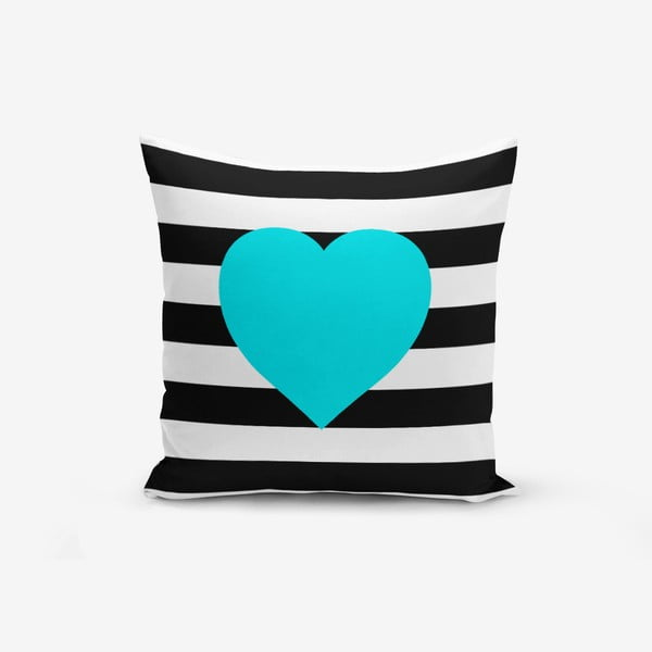 Obliečky na vaknúš s prímesou bavlny Minimalist Cushion Covers Striped Blue, 45 × 45 cm