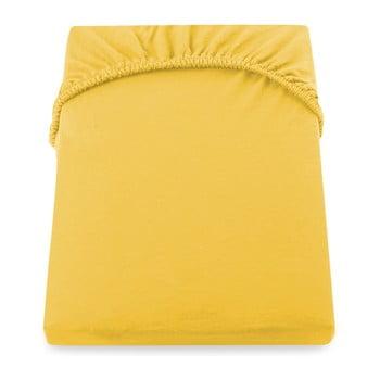 Cearșaf de pat cu elastic DecoKing Nephrite, 180–200 cm, galben imagine