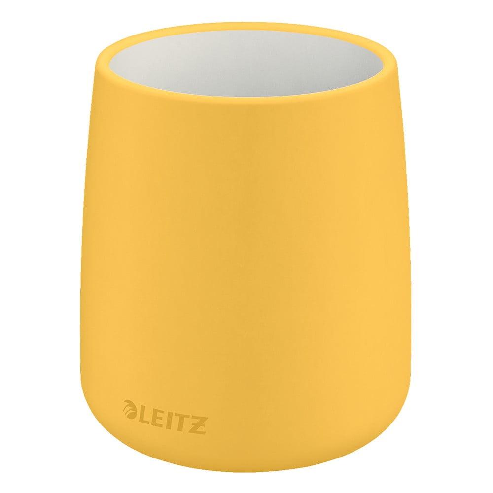 Žlutý keramický kelímek na tužky Leitz Cosy