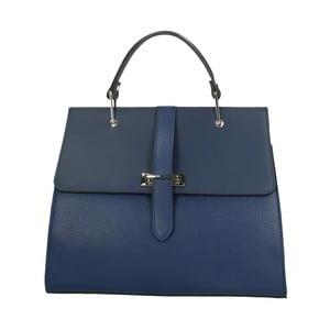 Modrá kožená kabelka Roberto Buono Quadra