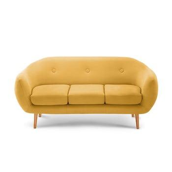 Canapea pentru 3 persoane Scandi by Stella Cadente Maison galben