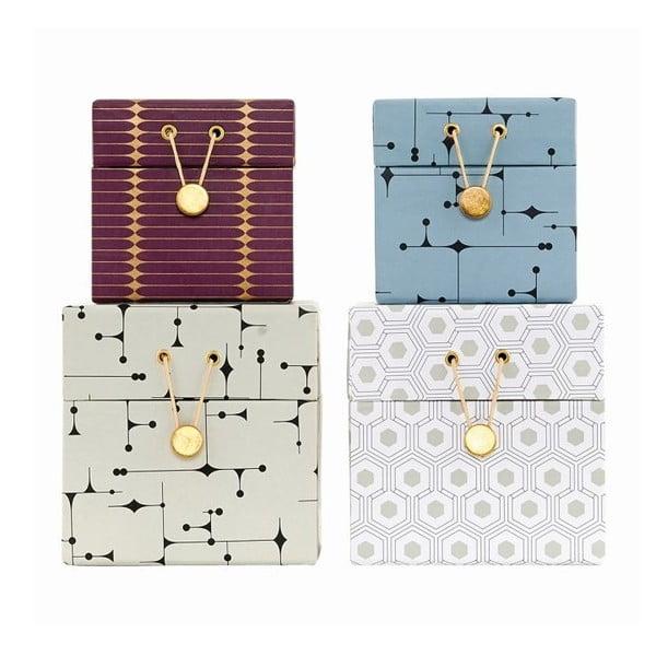 Set boxů Print, 4 ks