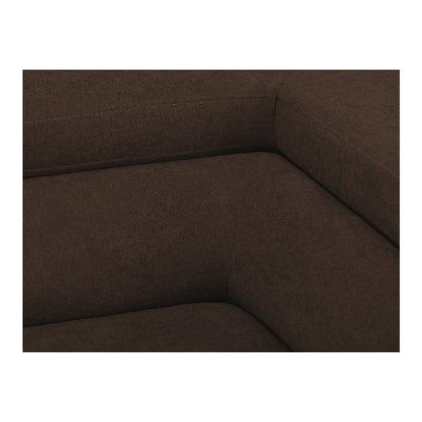 Hnědá rozkládací rohová pohovka Windsor & Co Sofas Gamma, pravý roh