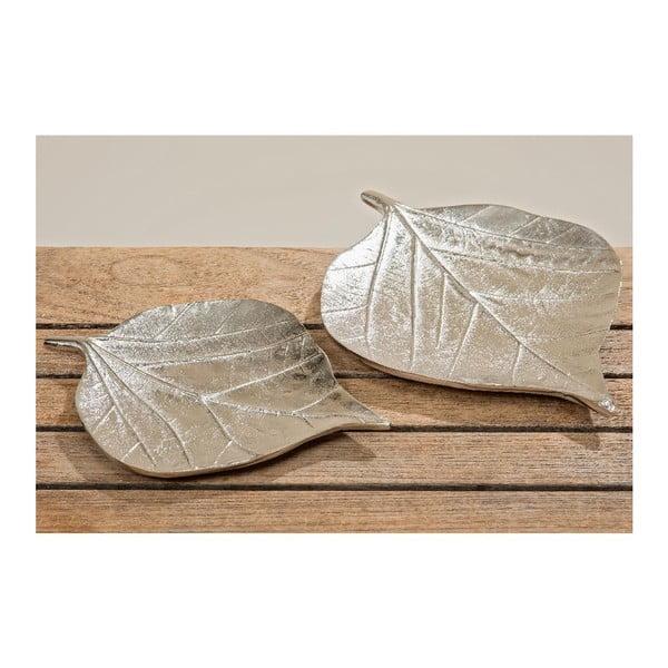 Sada 2 dekorativních talířů Leaf