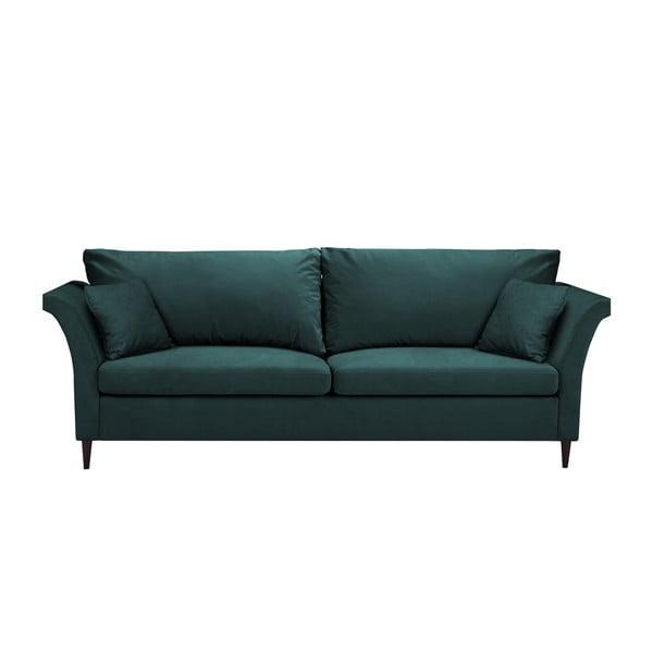 Canapea extensibilă cu 3 locuri și spațiu pentru depozitare Mazzini Sofas Pivoine, verde albastru
