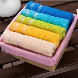 Sada 5 ručníků Pink Basket, 30x50 cm