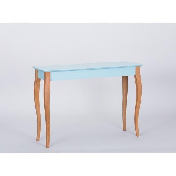 Světle tyrkysový odkládací stolek Ragaba Console,délka105cm