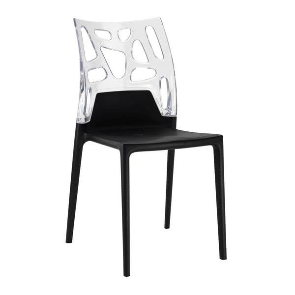 Židle Ego Rock, black/clear