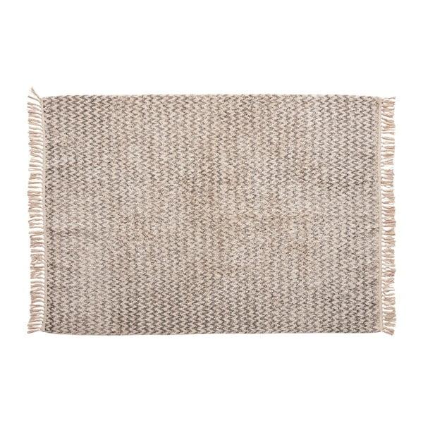Šedý bavlněný koberec Hübsch Miranda, 127 x 180 cm