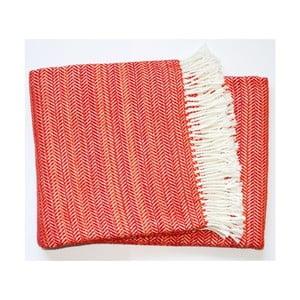 Červená deka Euromant Toscana,140x180cm