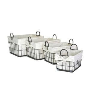 Sada 4 košíků Fabric Baskets