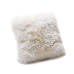 Bílý polštář Royal Dream Sheepskin, 30 x 30 cm