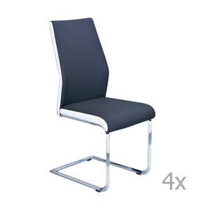 Set 4 scaune 3Casa Lisbona, albastru