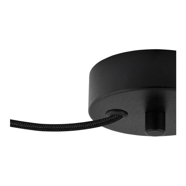 Černé dvojité stropní svítidlo s vnitřkem ve stříbrné barvě Sotto Luce Mika