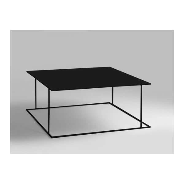 Walt fekete dohányzóasztal, 100 x 100 cm - Custom Form