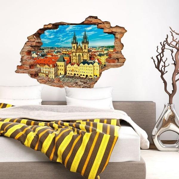 Autocolant perete 3D Ambiance Praga, 90 x 60 cm