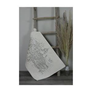 Světle šedá bavlněná koupelnová předložka My Home Plus Sensation, 60 x 60 cm