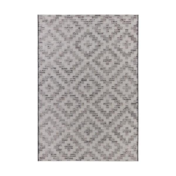 Krémovo-šedý koberec vhodný do exteriéru Elle Decor Curious Creil, 77 x 150 cm