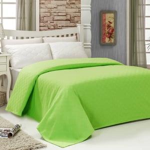 Přehoz přes postel Pique Green, 200 x 240 cm