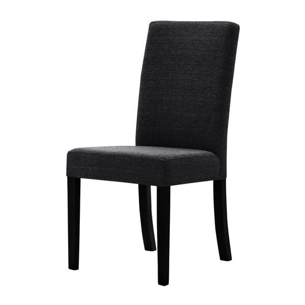 Černá židle s černými nohami z bukového dřeva Ted Lapidus Maison Tonka