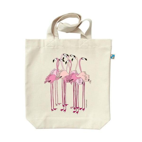 Plátěná taška Plameňáci