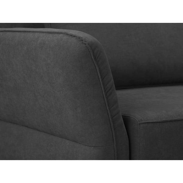 Tmavě šedá trojmístná rozkládací pohovka Windsor & Co Sofas Casiopeia