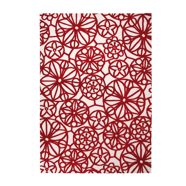 Koberec Society Circle Red 160x230 cm
