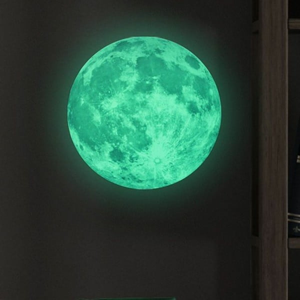 Świecąca naklejka dziecięca Ambiance Real Moon, ⌀ 30 cm