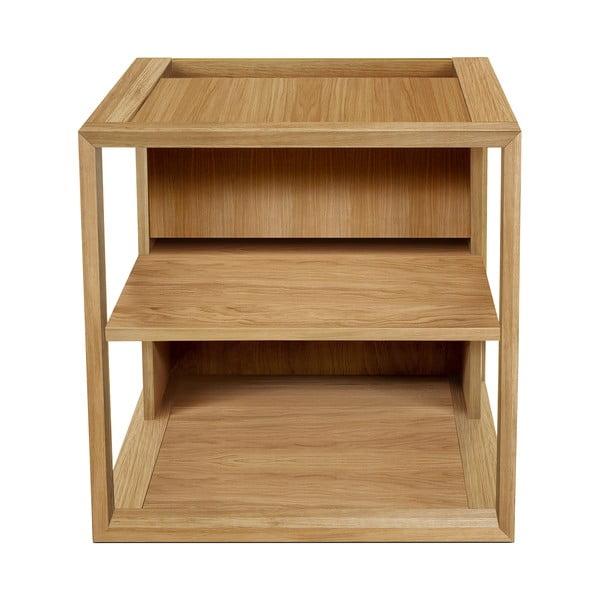 Brązowy stolik/szafka w dekorze drewna dębu Woodman Cube, 50x50 cm