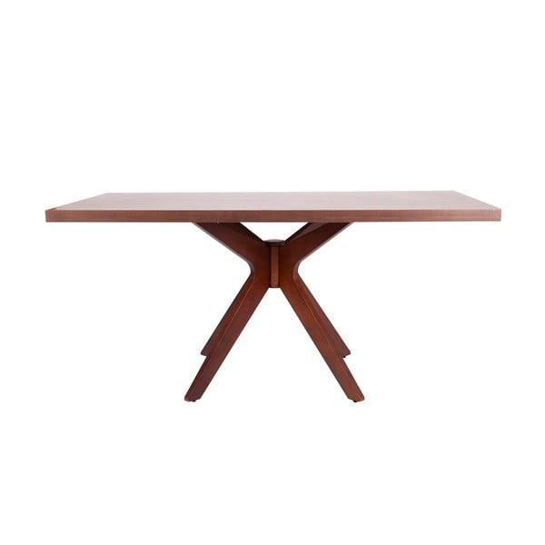 Tmavě hnědý jídelní stůl sømcasa Shela, délka 160 m