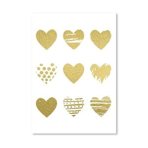 Poster Americanflat Hearts, 30 x 42 cm