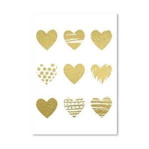 Plakát Americanflat Hearts, 30x42cm
